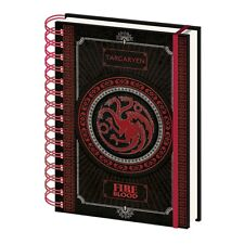 Genuine HBO Game Of Thrones Targaryen Sigil A5 Hardback Journal Notebook Pad