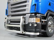 Aluminum Front Animal Grill Bumper Guard Tamiya RC 1/14 Scania Man TGX Semi