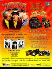 The Three Stooges Collector Trading Card Dealer Sell Sheet Sale Ad Breygent 2005