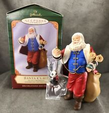 Hallmark Keepsake Santa Claus & Panda Bear Set of 2 Ornaments 2001 Night Before