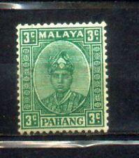 1935 Malaya Malaysia Pahang States Def 3c MH. CV Rm 60