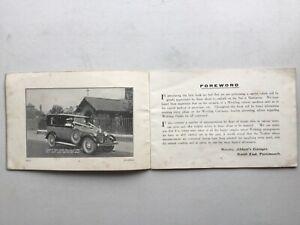 Portsmouth 'Abbott's Garage' wedding car service 32pp booklet + advice & adverts