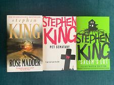 Stephen King Salem's Lot, Rose Madder & Pet Sematary Books