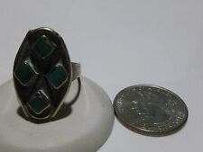 ANTIQUE VINTAGE NATIVE AMERICAN TURQUOISE STERLING SILVER WOMENS ESTATE RING