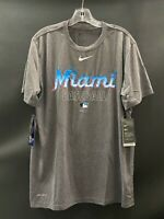 MIAMI BASEBALL TEAM ISSUED NIKE  DRI-FIT SHORT SLEEVE SHIRT NEW W/TAGS LARGE