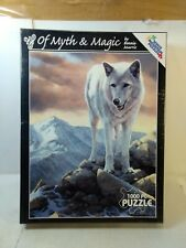 White Mountain Of Myth & Magic white Wolf Bonnie Marris Puzzle gm1472