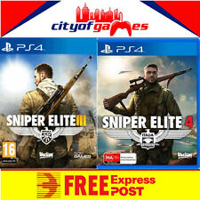 Sniper Elite 3 and 4 PS4 Bundle New & Sealed  Free Express Post In Stock
