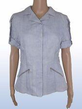 seventy donna giacca blusa azzurro p/e lino taglia it 44 l large manica corta