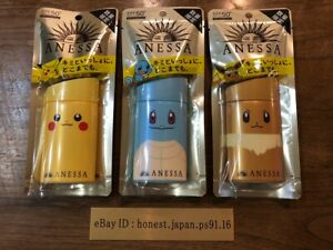 Shiseido ANESSA Perfect UV Milk a Pokemon 60mL 3 pieces limited package
