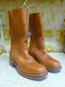 NEW/NWOB Frye Campus Honey Brown Leather Work Boots, Size 10 M, Neoprene Sole!