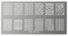Stamping Plate Rectangle Mystery Nagel Stempel Schablone Nageldesign