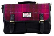 Authentic Harris Tweed Large Satchel Bag - Cerise HC038