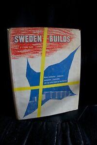 Sweden builds de G E Kidder Smith (architecture de Suède) 1950 illustré TBE rare
