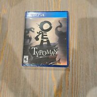 Typoman Revised PS4 Playstation 4 Limited Run Games #135 Review/Promo Copy NEW.
