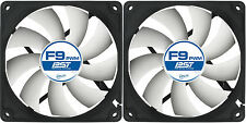 2 x Arctic Cooling F9 PWM PST 92mm Case Fans 1800 RPM (AFACO-090P0-GBA01) Artic