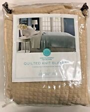 Martha Stewart Collection Quilted Triple Knit Blanket - Twin - Brown - Bnob