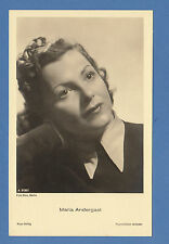 GERMAN  ACTRESS  -  ROSS VERLAG SCARCE POSTCARD  -  MARIA   ANDERGAST  -  1930's