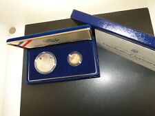 1987 CONSTITUTION $5 GOLD & $1 SILVER PROOF SET COINS