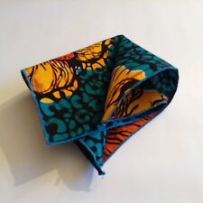 Mens Pocket Square Contemporary Cotton Multicolour Printed Fabric