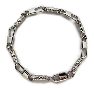 """ACTS Bracelet Fishers Of Men 950 Platinum 8"""" MEDIUM LINK, Original Design!!"""
