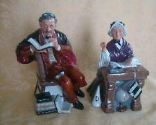 Royal Doulton Figurines: The Professor Hn# 2881 & Schoolmarm Hn#2223
