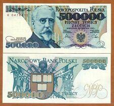 Poland, 500000 (500,000) Zlotych, 1990, P-156, UNC
