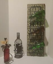 Wine Bottle Holder, Cork Holder & Wine Bottle Candle Holder. Bottles not 4 sale.
