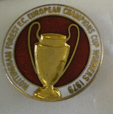 NOTTINGHAM Forest F.C. campioni europei calcio vincitori 1979 smalto pin badge