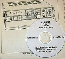 FLUKE 1953A Counter Operating  & Service Manual (good schematics)