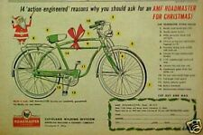 1956 AMF Roadmaster Flying Falcon Bicycle Christmas AD