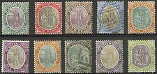 St Kitts Nevis  1903  Scott #1-10  Mint - Used Set
