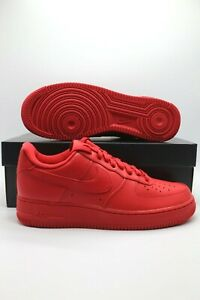 Nike Air Force 1 Retro '07 LV8 Low Triple Red Sneakers CW6999-600 Men's Sizes