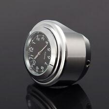 "Motorcycle Clock Watch Handlebar Black Dial Universal 7/8"" 1"" for Harley Honda"