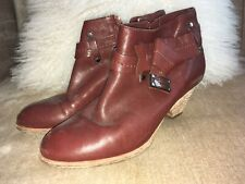 Marc By Marc Jacobs Bow Booties Shoes 36 6 Brown Leather Women's no box