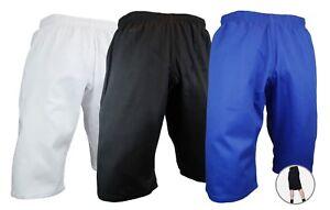 NEW Karate Taekwondo SHORTS SHORTCUT PANTS Martial Arts Uniform White/Black/Blue