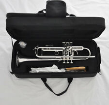 """Professional Silver Bb Reversed Leadpipe Trumpet Horn 4-7/8"""" bell with case"""