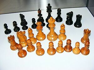 Antique Jaques of London PART Chess Set. Staunton Pattern. King's 97mm. c 1890