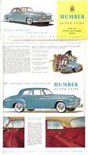 Humber Super Snipe Mk IV Original UK Brochure Saloon Limousine Ref 266 1954-55