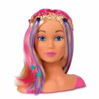 John Adams Girlds World Styling Doll Head Bead & Style Hair Dressing - New