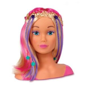 John Adams Girl's World Styling Doll Head Bead Style And Hairdressing Set 10460
