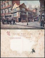 EARLY 1900's VINTAGE TUCKS Ye Olde Fishing Tackle Shop Manchester POSTCARD