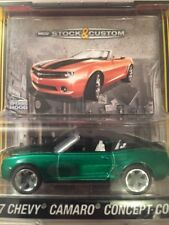 Greenlight Stock & Custom 1:64 2007 Chevy Camaro Concept Conv Green Machine VHF!