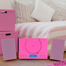 Hifi Audio Sound Musik Stereo Kinder Mädchen Anlage CD-Player Radio AUX-IN pink