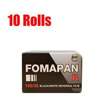 10 Rolls Foma  Fomapan R100 35mm135-36 Black&White Reversal Slide Film Fres 2022