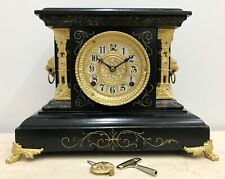 RESTORED Antique Gilbert U.S.A Mantel Clock #1536