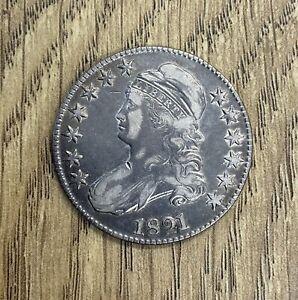 1821 Capped Bust Half Dollar VF+