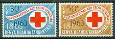 KUT Kenya Uganda Tanganyika 1963, Rotes Kreuz Red Cross, Mi.130-131, MNH 3051