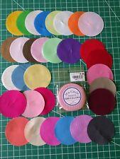 New Wa-Circle Factory Fabric Precuts No Dups 30 circles Solids Quilting Sewing