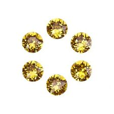 Swarovski 1088 Crystal XIRIUS Chatons Light Topaz Foil Back 6mm SS29 (E96/10)
