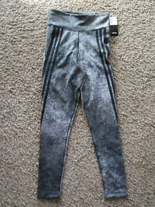 NWT adidas Climalite Black/Gray Yoga Leggings Polyester Blend Pants Women's S